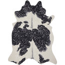 Online Designer Home/Small Office Clayton Black/ Silver Faux Cowhide Rug