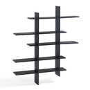 Online Designer Business/Office 5 Shelf Asymetric Wall Shelf