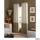 Online Designer Business/Office Kendall Color Block Grommet Curtain Panel  Ivory/tan
