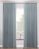 Online Designer Bedroom Drapery for big window glass (Herringbone-Mist)