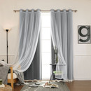 Online Designer Bedroom Draperies for WA & WB - Dark gray