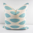 Online Designer Bedroom Village Blue Pillows.