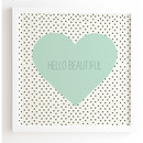 Online Designer Kids Room Hello Beautiful Graphic Art (Frame included)