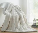 Online Designer Living Room Basile Faux Fur with Sherpa Throw Blanket