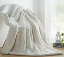 Online Designer Living Room Basile Faux Fur with Sherpa Throw Blanket