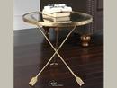 Online Designer Living Room Antique Gold Leaf Round Side Table