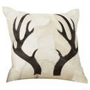 Online Designer Hallway/Entry Agate Antler Piecework Hide Throw Pillow