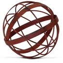 Online Designer Bedroom Bruening Distressed Metal Decorative Sphere Sculpture