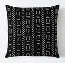 Online Designer Bedroom AFRICAN MUD CLOTH BOX & ARROW SQUARE PILLOW COVER