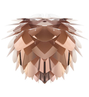 Online Designer Bedroom Silvia Copper Mini-Pendant with Black Cord Set and Black Canopy