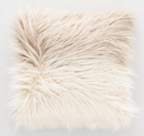 Online Designer Combined Living/Dining Mocha Ombre Mongolian Faux Fur Throw Pillow
