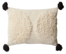 Online Designer Living Room JUSTINA BLAKENEY POM POUF PILLOW, WHITE