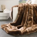 Online Designer Combined Living/Dining Luxury Faux Fur Throw
