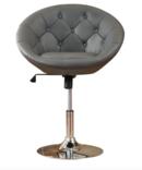 Online Designer Living Room SARTHAK CONTEMPORARY TUFTED BACK TILT SWIVEL BARREL CHAIR