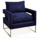 Online Designer Living Room Bevin Accent Chair, Indigo Linen