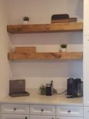 Online Designer Combined Living/Dining Any Length* Floating Shelves Reclaimed Wood