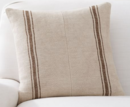Online Designer Combined Living/Dining PIECED GRAINSACK STRIPE PILLOW COVER