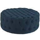 Online Designer Combined Living/Dining Circle Tufted Ottoman - Azure