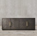 Online Designer Combined Living/Dining HERRINGBONE 4-DOOR SIDEBOARD