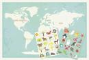 Online Designer Kids Room Our Earth Interactive Map, Canvas Or Print, Educational, Travel, Inspirational