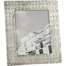 Online Designer Living Room taj embossed 8x10 nickel picture frame