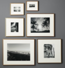 Online Designer Combined Living/Dining gallery brass frames with white mats
