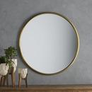 Online Designer Hallway/Entry Lark Round Metal Wall Mirror