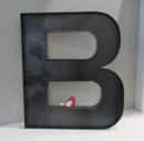 Online Designer Living Room 24 inch Metal Letter B-Industrial Metal Wall or Standing Letters A to Z