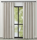 Online Designer Combined Living/Dining Willis Natural Taupe Curtain Panel