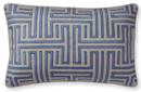 Online Designer Living Room Colonial Greek Key Pillow Cover, Blue