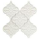 Online Designer Kitchen Byzantine Florid Arabesque Bianco Ceramic Wall Tile
