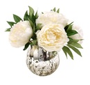 Online Designer Bedroom Waterlook White Peonies in Mercury Glass