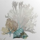 Online Designer Combined Living/Dining 'Coral' Aimee Wilson Graphic Art Print