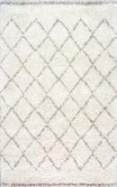 Online Designer Combined Living/Dining Soft Trellis Shag Area Rug