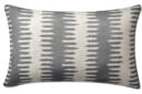 Online Designer Living Room Paloma Ikat Lumbar Jacquard Pillow Cover, Gra