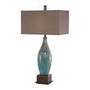 Online Designer Living Room Ocean Blue Art Glass Table Lamp