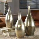 Online Designer Combined Living/Dining Antique Silver Vases