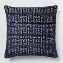 Online Designer Living Room Allover Crosshatch Jacquard Velvet Pillow Covers
