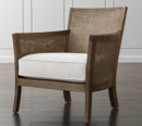 Online Designer Combined Living/Dining Blake Grey Wash Rattan Chair with Fabric Cushion