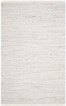 Online Designer Bedroom Penrock Way Handwoven Cotton White Area Rug