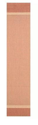 Online Designer Patio Linden Texture Beige/Terracotta Indoor/Outdoor Area Rug