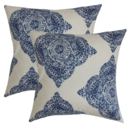 Online Designer Combined Living/Dining Daganya Damask Throw Pillows,