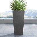 Online Designer Bedroom WEATHERED CAST STONE TAPERED PLANTERS