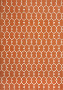 Online Designer Bedroom Momeni Baja Orange Rug