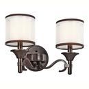 Online Designer Bedroom Kichler Lighting Lacey 2 Light Bath Vanity in Mission Bronze 45282MIZ
