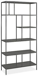 Online Designer Home/Small Office Foshay Bookcases in Natural Steel