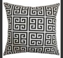 Online Designer Living Room Paros Greek Key Pillow Black White