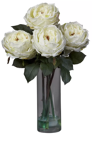 Online Designer Living Room Fancy Silk Roses in Vase by Nearly Natural