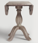 Online Designer Combined Living/Dining Round Weathered Gray Wood Jozy Drop Leaf Table