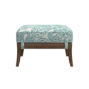 Online Designer Combined Living/Dining Blake Grey Wash Ottoman with Fabric Cushion